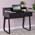 Classic Study Writing Computer Desk with 2 Drawers