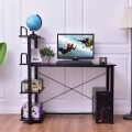 4-Tier Wood Computer Desk Laptop Writing Table