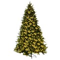 3 Size Flocked Artificial Christmas Tree with LED Lights and Pine Cones