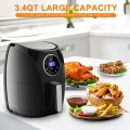 1400 W Touch Screen Timer & Temperature Control Electric Air Fryer