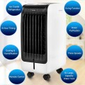 110V Portable Cooling Evaporative Fan with 3-Speed and 8H Timer Function