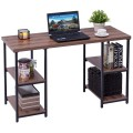 Study Writing Computer Desk with 4 Storage Shelves
