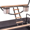 Pet Bird Parrot Stand Perch with Ladders and Cups