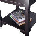 Cappuccino Wooden Sofa End Table Side Table