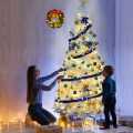 Artificial PVC Hinged Pine Snow-flocked Christmas Tree with Metal Stand