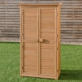 """63"""" Tall Garden Storage Shed Wooden Tools Shutter"""