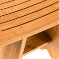 """18"""" Bamboo Shower Stool Bench with Shelf"""