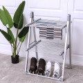 2-Tier Foldable Multifunctional Aluminum Stand Electric Dryer