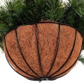 12-inch Christmas Decor Battery-operated Hanging Basket