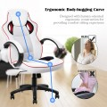 White Executive High-Back Racing Style Office Chair