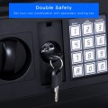 Black Electronic Password Security Safe Box With Key