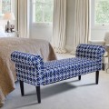 """53.5"""" Rolled Arm Padded Bed Bench"""