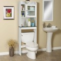 Space Saver White Over-the-Toilet Cabinet