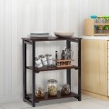 3 Tier Multifunctional Display Stand Folding Ladder Bookcase Shelf