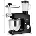 Multifunctional Stand Mixer Blender Meat Grinder with 7qt Bowl