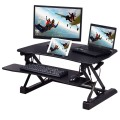 Height Adjustable Stand up Lift Rising Laptop Desk with Phone Slot