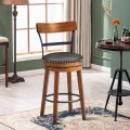 30.5-Inch 360-Degree Swivel Stools with Leather Padded Seat