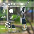 96 FT LED Outdoor Waterproof Commercial String Lights Bulbs
