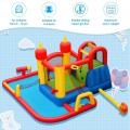 Inflatable Water Slide Jumper Bounce House with Ocean Ball without Blower
