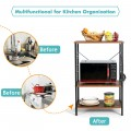 3-Tier Kitchen Baker's Rack Microwave Oven Stand Storage Shelf with10 Hook