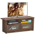 TV Stand Entertainment Center with 2 Shelves