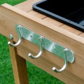 Garden Wooden Planting Potting Bench Table with Shelves