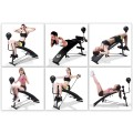 Adjustable Incline Curved Workout Fitness Sit Up Bench