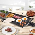 Electric Teppanyaki Table Top Grill Griddle with Adjustable Temperature