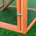 Wooden Rabbit Hutch Chicken Cage with Tray