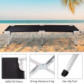 Outdoor Hiking Portable Aluminum Folding Camping Bed with Bag