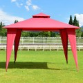 2-Tier 11' x 11' Patio Party Canopy Tent with Slant Legs