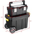 2-in-1 Rolling Tool Box Set Mobile Tool Chest Storage Organizer Portable
