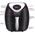 1400 W Electric Air Fryer with Digital Touch Screen