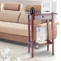 """28"""" Height Tall Wood Side Accent Style Telephone Stand Table"""