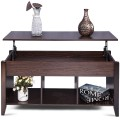 Lift Top Coffee Table w/ Hidden Compartment Storage Shelf