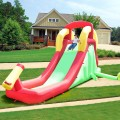 Inflatable Water Slide Bounce House with Climbing Wall and Jumper Without Blower