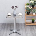 """23 1/2"""" Stainless Steel Aluminium Square Cafe Bistro Table"""