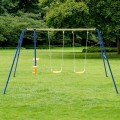 Metal A-Frame Four Seat Swing Set for 4 Children