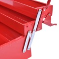 20 Inch Metal Tool Box Portable with 5 Trays Cantilever