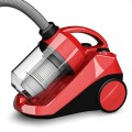 Bagless Cord Rewind Canister Vacuum Cleaner w/ Washable Filter