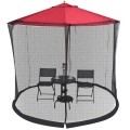 Outdoor 9/10FT Umbrella Table Screen Mosquito Bug Insect Net