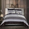 Luxury Striped Pattern 8+2 Piece Comforter Set Full Size, Queen Size, King Size