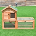 """56"""" Pet Supplies Wooden House Rabbit Hutch Chicken Coops Cage"""