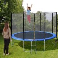 14 ft Trampoline Combo w/ Safety Enclosure Net, Spring Pad & Ladder