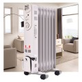 1500 W Electric Portable Oil Filled Radiator Space Heater with 3 Heat Settings