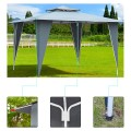 2 Tiers 11.5' x 11.5' Gazebo Canopy Shelter Patio Awning Tent