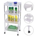 4 Tiers Portable Trolley Cart with Wheels