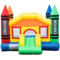 Inflatable Crayon Bounce House Castle without Blower