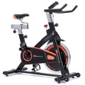 Indoor Fixed Aerobic Fitness Exercise Bicycle with Flywheel and LCD Display