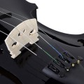 4/4 Full Size Black Acoustic Violin with Case
